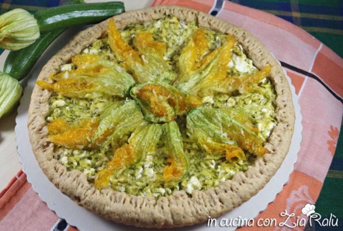torta salata zucchine caprini feta