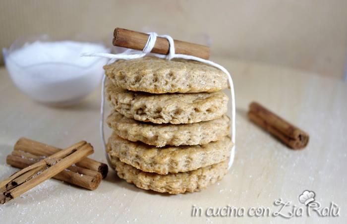 biscotti aromatizzati alla cannella