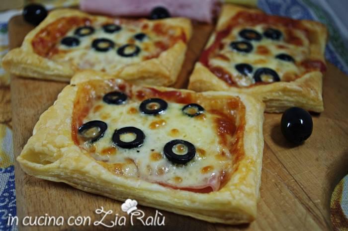 pizzette di pasta sfoglia capricciose