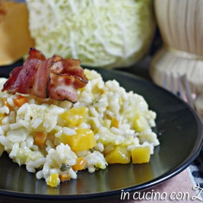 risotto zucca verza