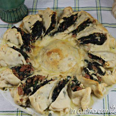 girasole salato spinaci salsiccia