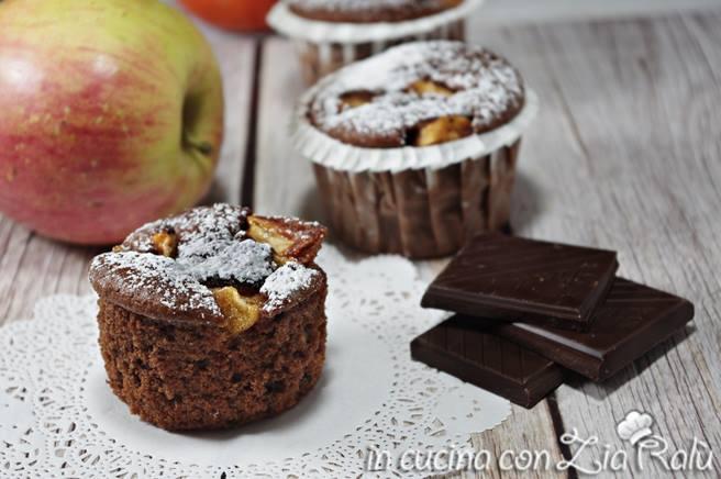 muffins cacao mela e cannella