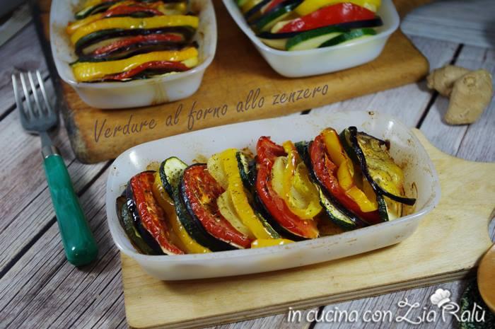 verdure al forno allo zenzero