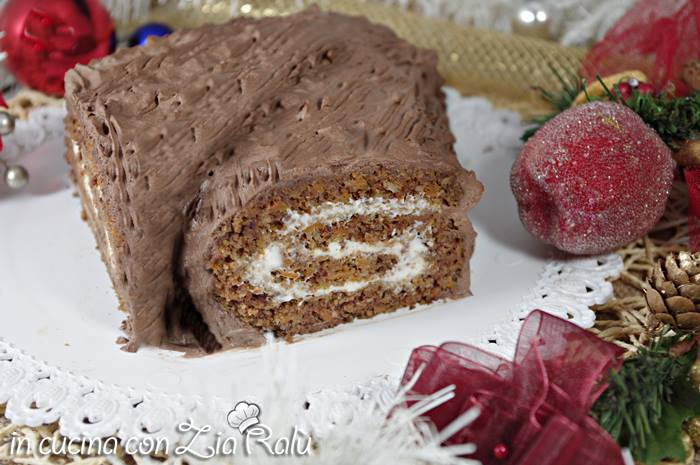 Tronchetto natalizio alla crema di yogurt