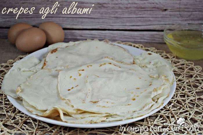 Crepes agli albumi senza grassi
