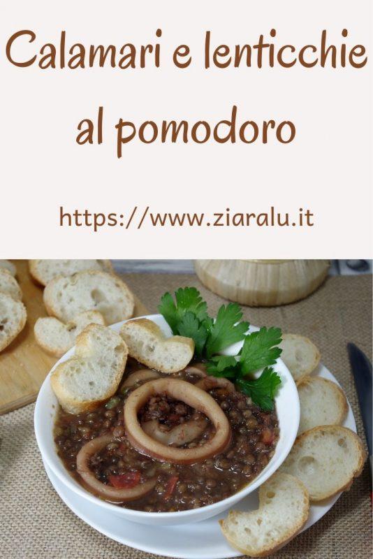 lenticchie calamari e pomodoro
