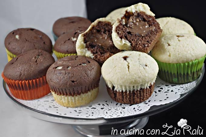 muffins bicolore cocco e cioccolato