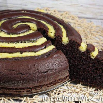 torta a spirale bicolore