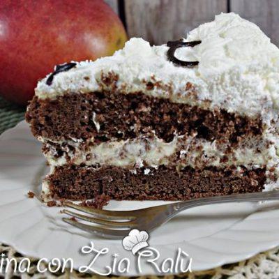 torta al cioccolato con crema al mango