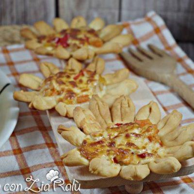 fiori di pizza scamorza e giardiniera