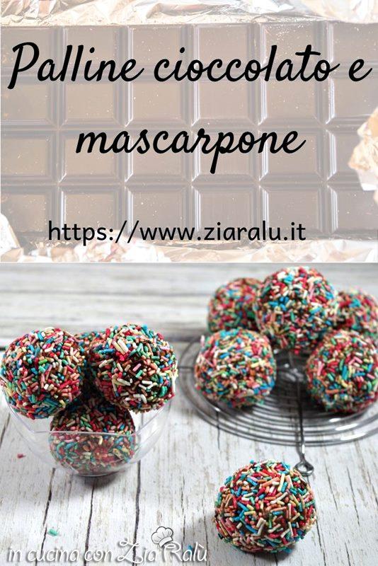 Palline mascarpone e cioccolato senza uova