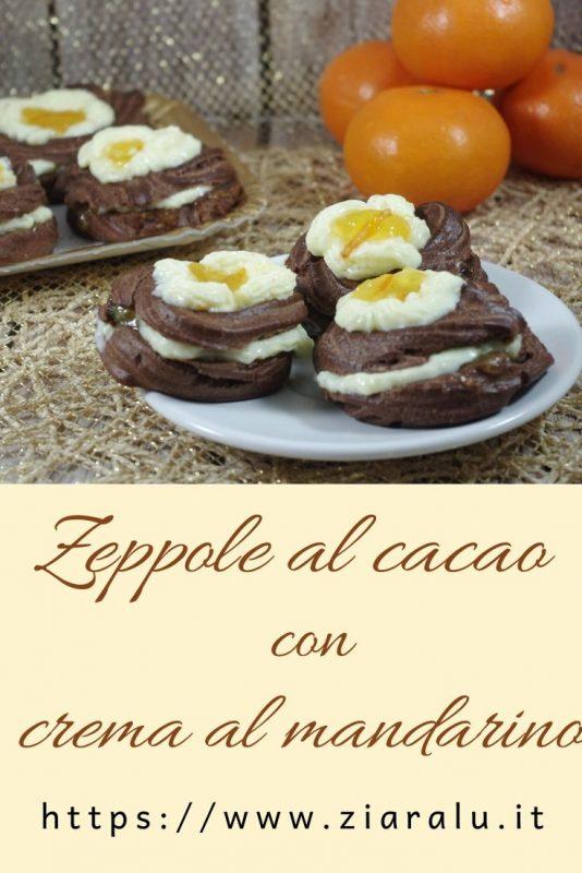 zeppole al cacao e crema al mandarino