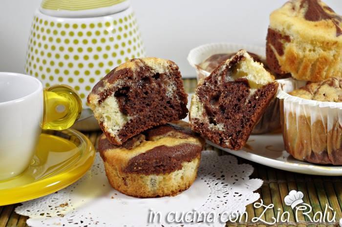 muffins bicolore al mascarpone
