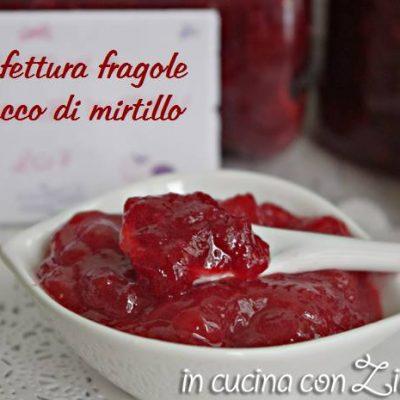 confettura fragole e succo di mirtilli