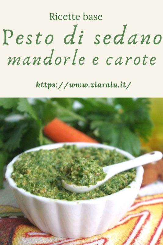 pesto di sedano mandorle e carote