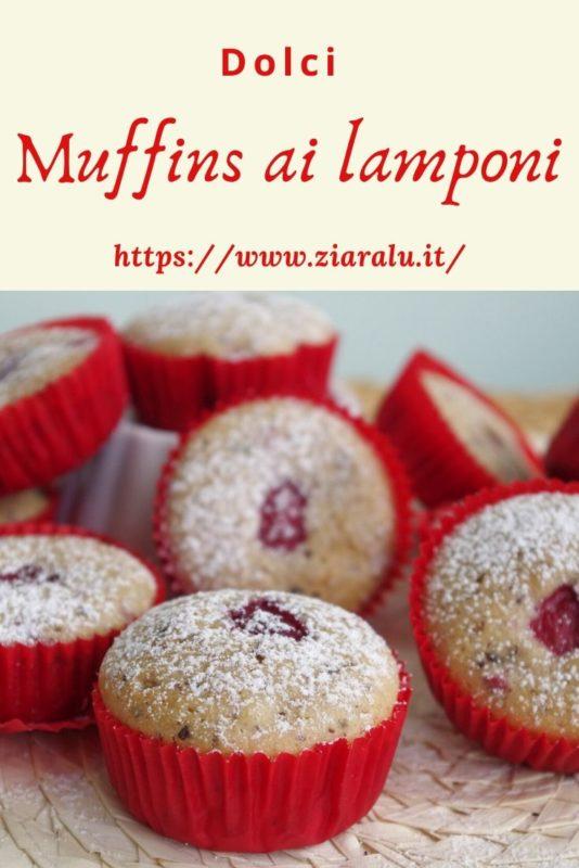 Muffins lamponi e cioccolato fondente