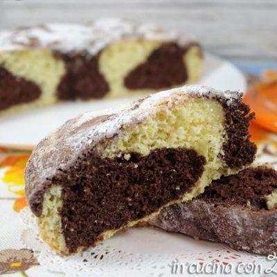 torta bicolore cocco e cacao