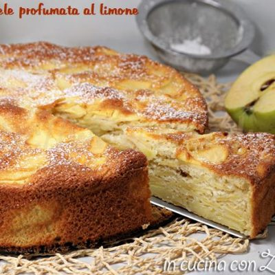 torta di mele profumata al limone