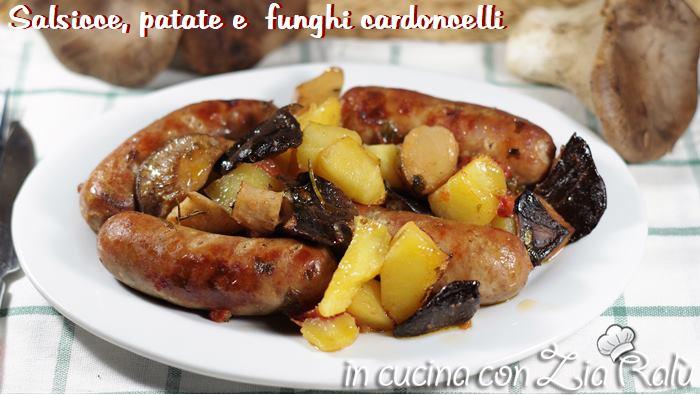 patate cardoncelli e salsiccia al forno