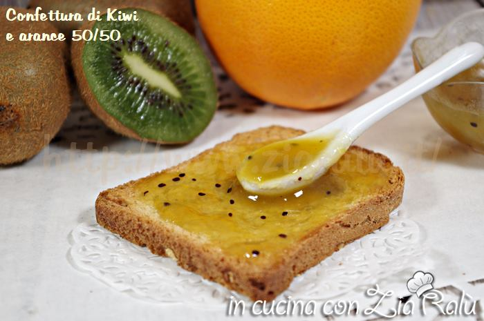 confettura di kiwi e arance 50/50