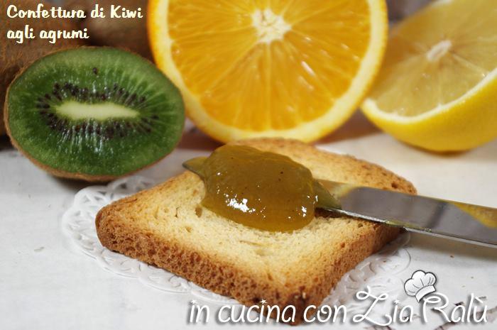 confettura di kiwi agli agrumi