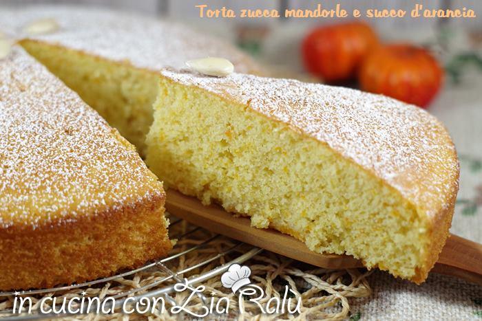 torta zucca mandorle e succo di arancia