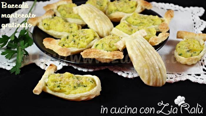 Baccalà mantecato gratinato in pasta sfoglia