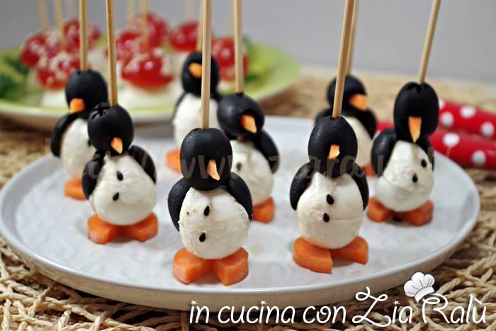 pinguini carote olive e mozzarelline