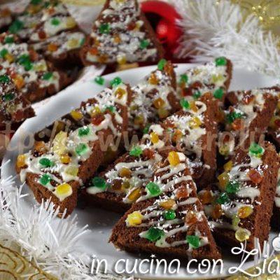 alberelli al cioccolato glassati