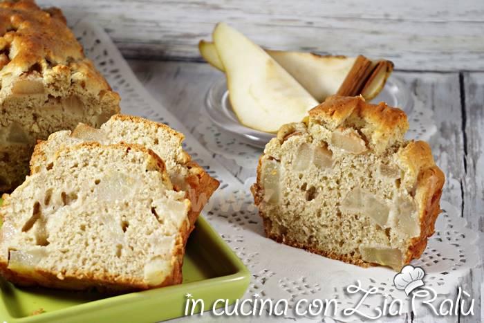 plumcake pere e cannella senza zucchero