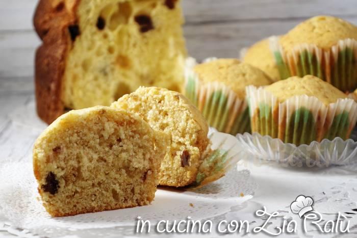 Muffins al panettone ricetta del riciclo