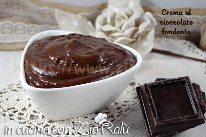 Crema al cioccolato fondente