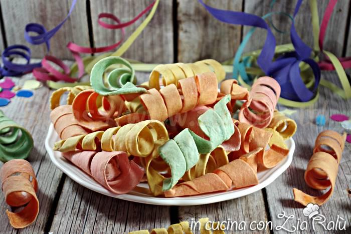 Stelle filanti colorate -ricetta di Carnevale