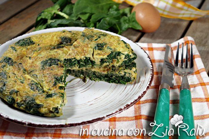 Frittata agli spinaci – ricetta light