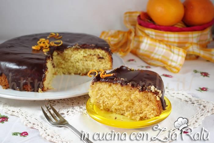 torta arancia e cocco con crema ganache al cioccolato