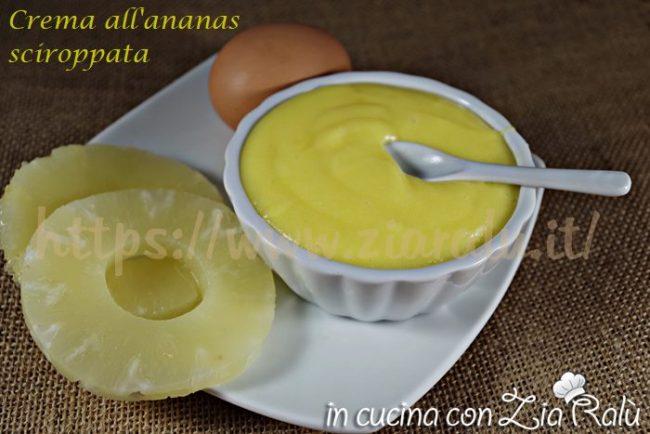 Crema senza latte gusto ananas sciroppate