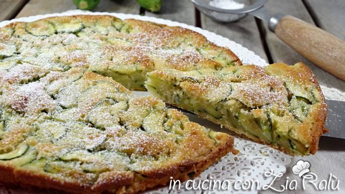 Torta dolce di zucchine – la scarpaccia di Viareggio