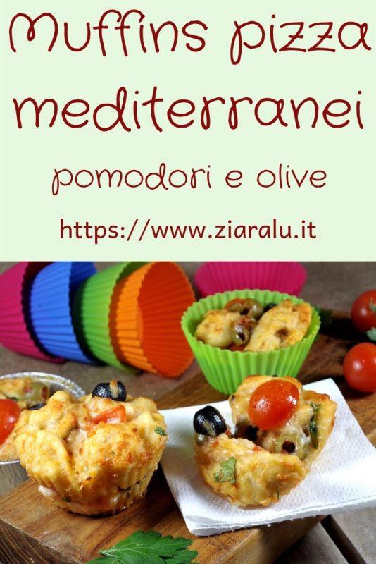 muffins pizza mediterranei