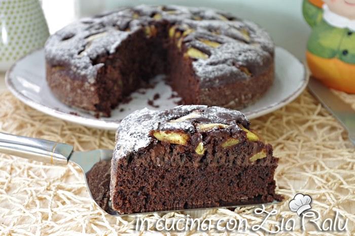 torta al cacao senza uova e lattosio
