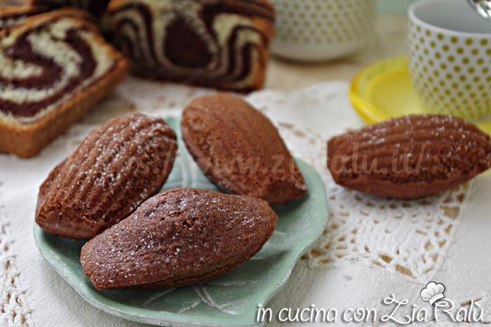 Madeleine al cacao variante golosa