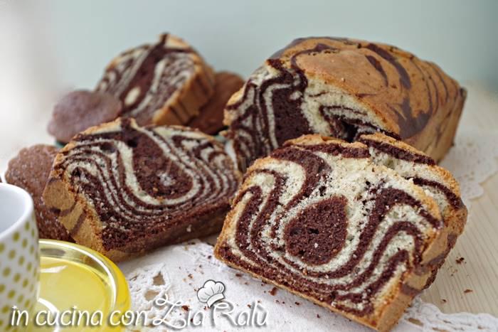 plumcake zebrato al cacao