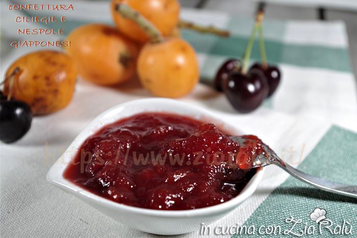 confettura di nespole giapponesi e ciliegie