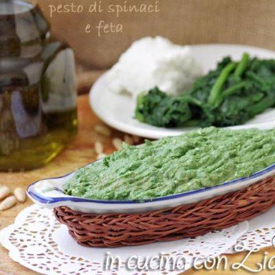 pesto agli spinaci e feta