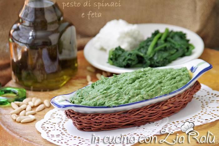 Pesto agli spinaci e feta – ricetta base gustosa