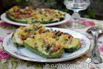zucchine ripiene di patate e mortadella