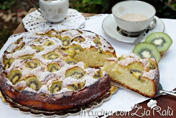 torta albumi olio e kiwi