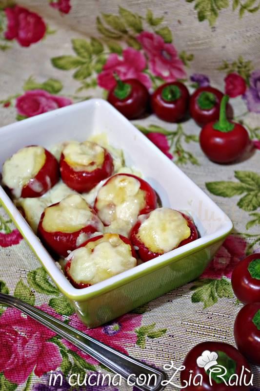 peperoncini ripieni di patate e pancetta al forno