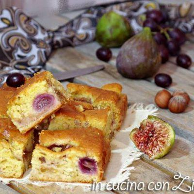 torta fichi uva e nocciole