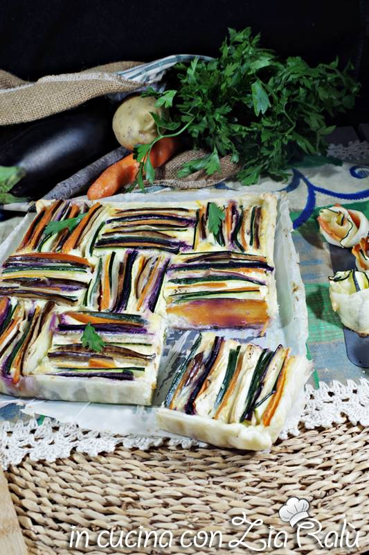 torta di verdure colorata
