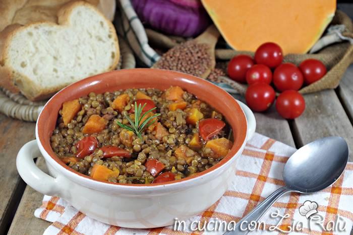 Zuppa di lenticchie e zucca
